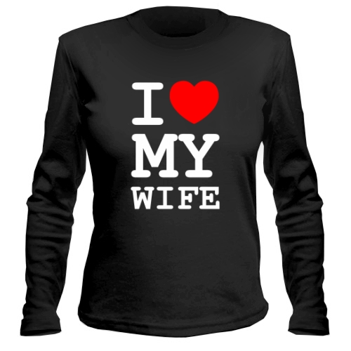 Женский лонгслив I Love My Wife