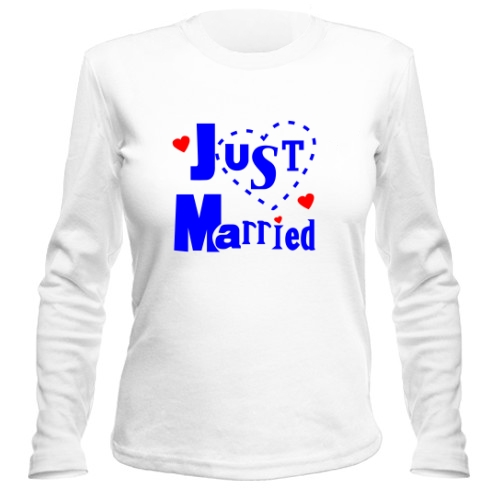 Женский лонгслив Just married 3