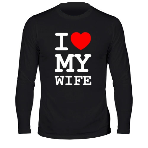 Мужской лонгслив I Love My Wife
