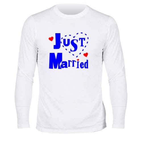 Мужской лонгслив Just married 3