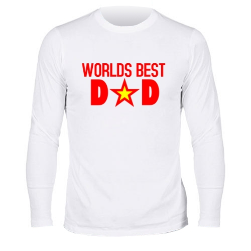 Мужской лонгслив World Best Ded